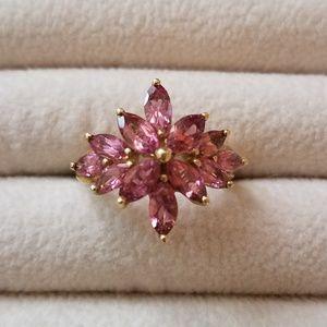 10k pink tourmaline ring